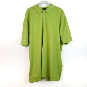 NIKE Golf Fit Dry Bright Green Polo Shirt Size XXL